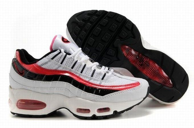 ... 2018 sneaker sale 3edf7 589ac Nike Air Max 95 Womens Shoes White Red  Black as you ...
