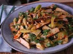 Sichuan Tofu Gan and Warm Celery Salad from CookingChannelTV.com