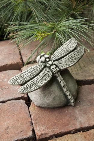 Dragonfly cast stone insect statue made by Campania International