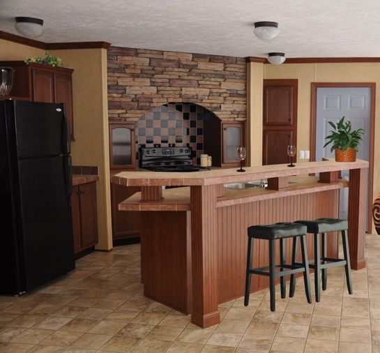 268 best refab your manufactured home images on pinterest for Mobile home kitchen remodel ideas
