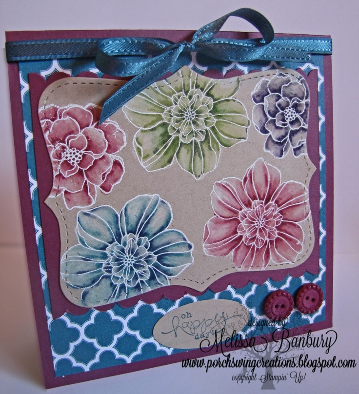 Porch Swing Creations: Candy Washed Spring Flower Tutorial