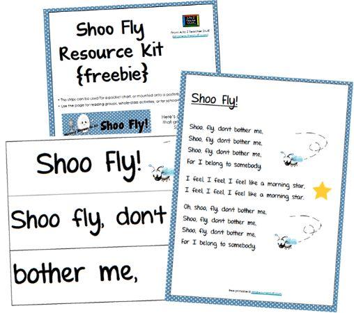 Shoo Fly, Don't Bother Me Printable Nursery Rhyme Resource Kit