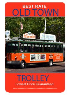 Old Town Trolley is a fun tour around Old Town Key West.  This tour hits all the historic and haunted spots.  For the best prices and deals check out www.MiamiSightSeeingTours.com