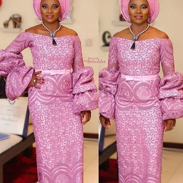 Assorted Cute Aso Ebi Lace Styles Worn Over The Past Weekend - Maboplus.com