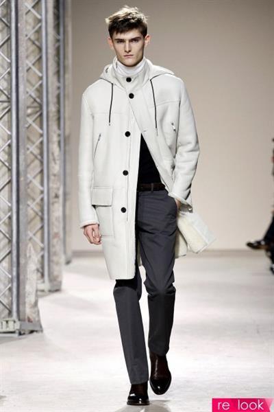 Пальто с мехом для стильных гламурных мужчин
