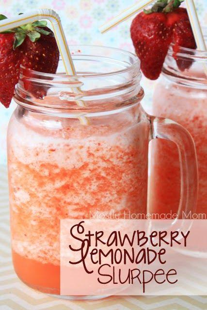 Mostly Homemade Mom - Strawberry Lemonade Slurpee with Kraft