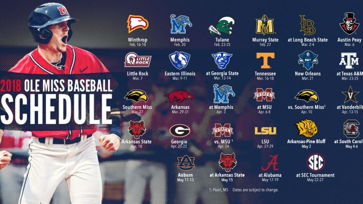 Ole Miss Baseball Announces 2018 Schedule - Ole Miss Rebels Official Athletic Site Ole Miss Rebels Official Athletic Site - Baseball
