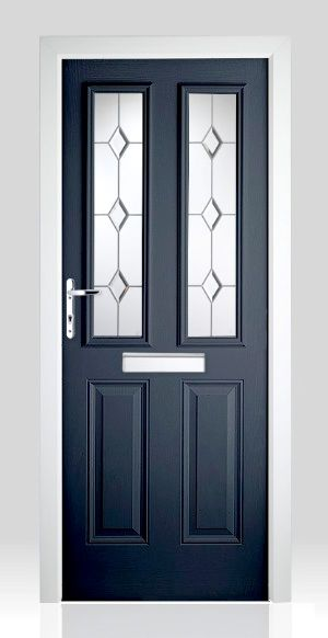 Victorian Right Hand Blue Composite Front Door