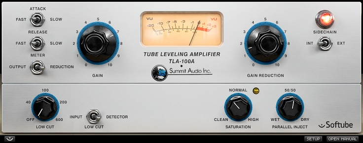 Summit Audio TLA-100A from Softube   ELECTRIC GUITARS