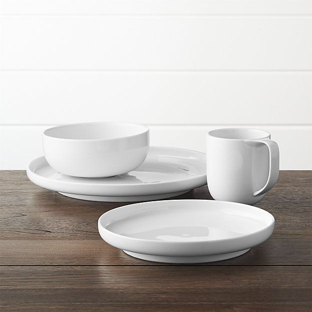 You can never go wrong with a crisp, white dinnerware set. Get started with the basics with this Toben 4-piece place setting from Crate and Barrel, which is the perfect foundation for any dining decor.  Better Homes & Gardens receives a commission for purchases made through the link on this page.