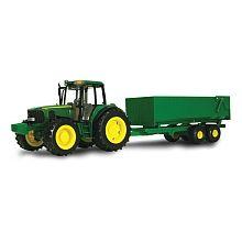 John Deere - 1:16 Scale Tractor with Wagon - Big Farm
