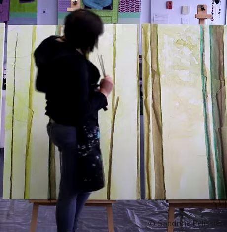 Self sabotage and the Artist by SANDRINE PELISSIER on ARTiful, painting demos
