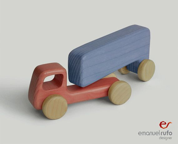 Wooden Toy  wooden truck by emanuelrufoToys on Etsy