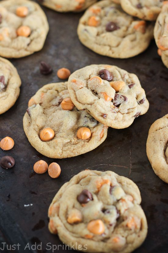 Chocolate Chip Butterscotch Cookies - Just Add Sprinkles