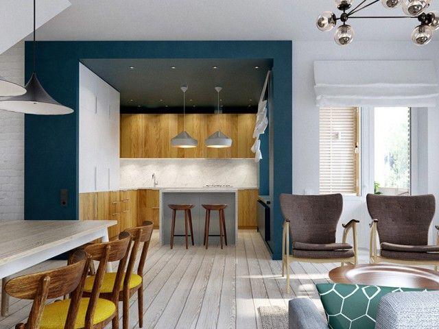 Les 25 meilleures id es de la cat gorie lot de cuisine bleu sur pinterest - Creer une piece en plus ...