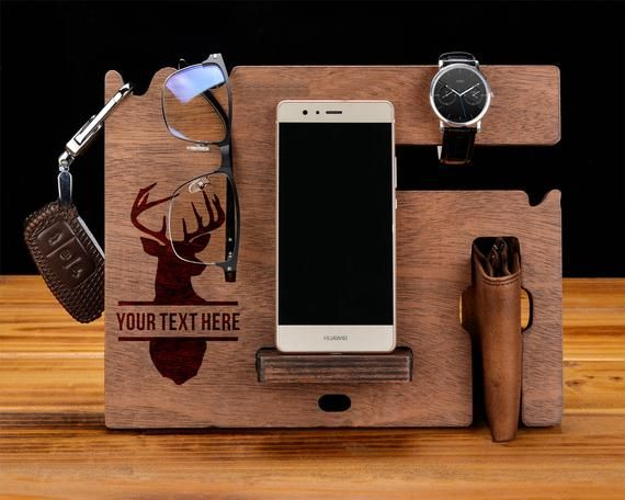 5e2c7fa62ec6d wood iphone dock,wood docking station,holder, Boyfriend Gift,Husband ...