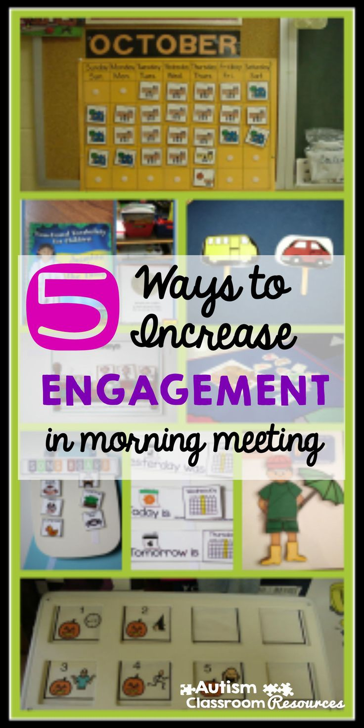 I love when morning meeting or circle time is so engaged that the kids and the staff are having fun.  Here are 5 ways to increase everyone's engagement in whole group activities in the special education classroom.