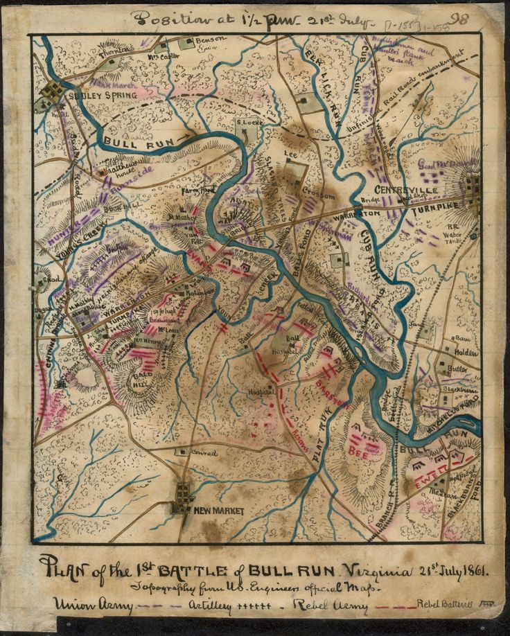 North America Map In 1750%0A Plan of the Battle of Bull Run Virginia July Topography from U  Shows the  area between Sudley Springs and Centreville to the north and New Market to  the