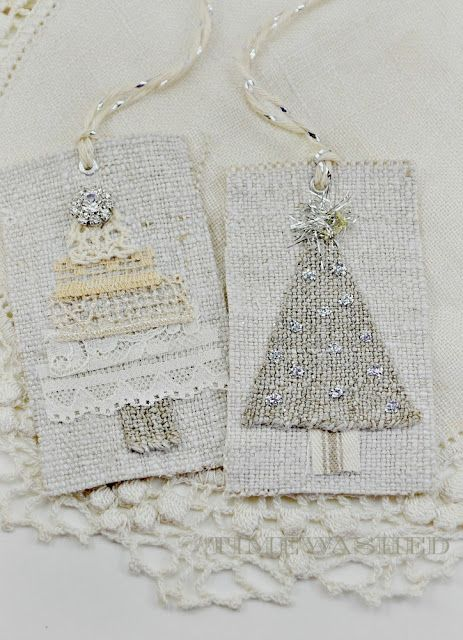 gift tags or tree ornaments - simple, sweet and elegant