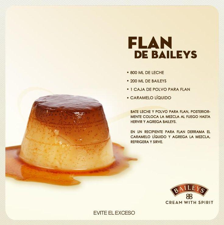Flan de Baileys...