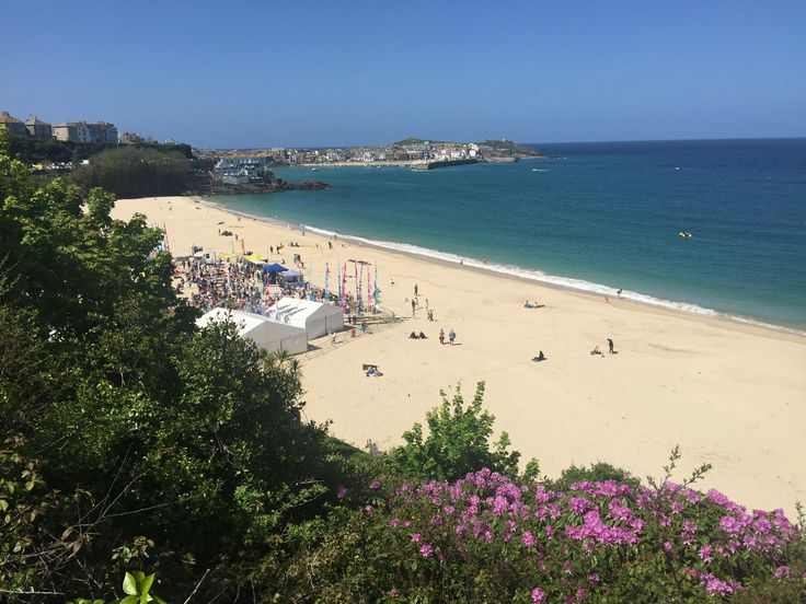 A stunning setting for the St Ives Food and Drink Festival:  Porthminster Beach, St Ives.  #StIvesFDFestival