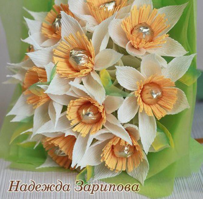 Нарцисс из конфет