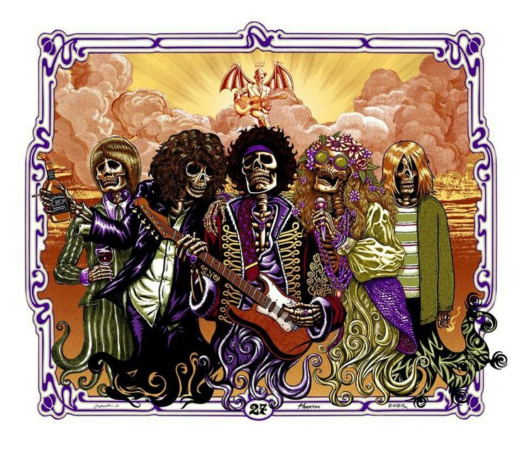 El club de los 27 Brian Jones Jim Morrison Jimi Hendrix Janis Joplin Kurt Cobain