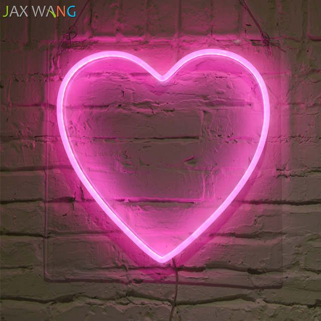 Online Shop Led Ins Props Lights Clothing Store Studio Decor Neon Night Lights Pink Girl Heart Shape Hello Neon Decor Light Fi Neon Heart Light Neon Decor Neon