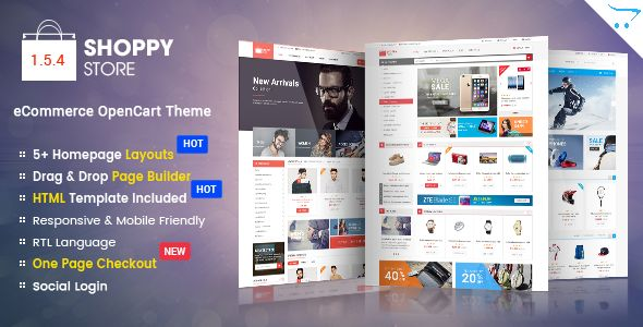 ShoppyStore - Responsive Multipurpose OpenCart 2.3 and 2.2 Theme - Shopping OpenCart