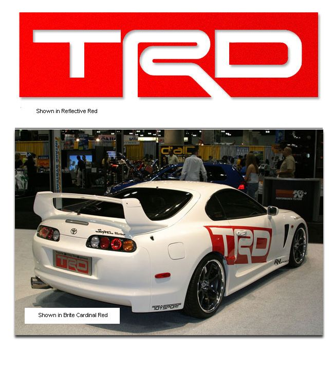 Sticker toyota trd 4