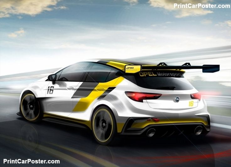 Opel Astra TCR 2016 poster, #poster, #mousepad, #Opel