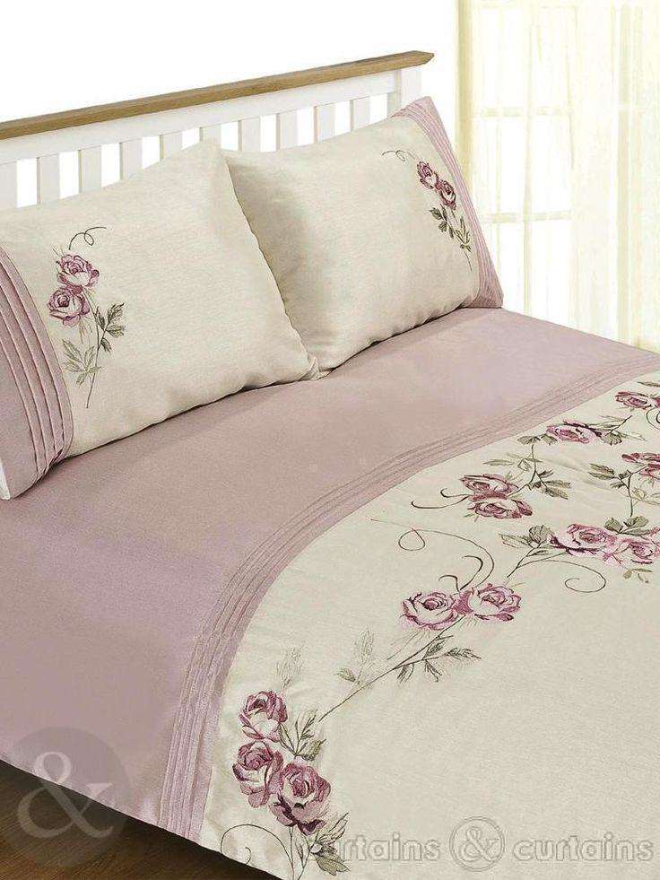 Lovely floral embroidered duvet set