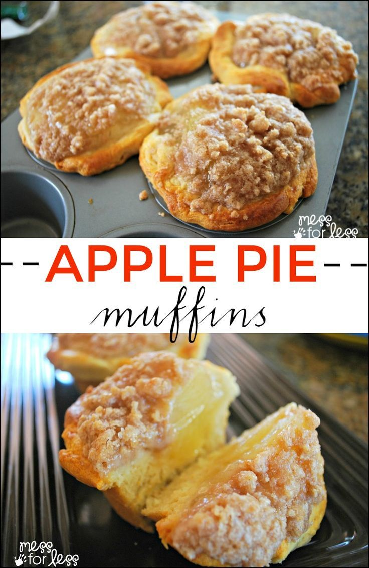 Apple Pie Muffins Using Crescent Rolls - These are so simple to make and use…