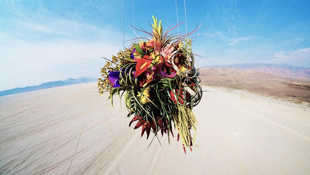 The Japanese florist and experimental artist creates art out of nature.