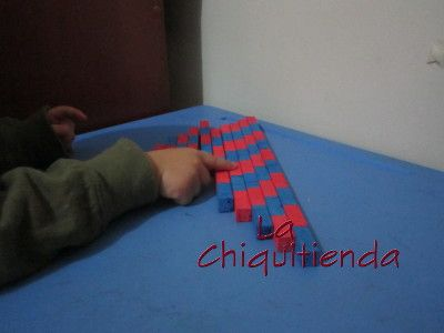 Paso a paso para la elaboración de las Barras numéricas pequeñas Montessori -  Con imprimible gratis