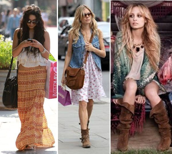 boho chic   estilo Bohemian , Look Chic ou Boho Chic vai de Kate Moss, Jade ...