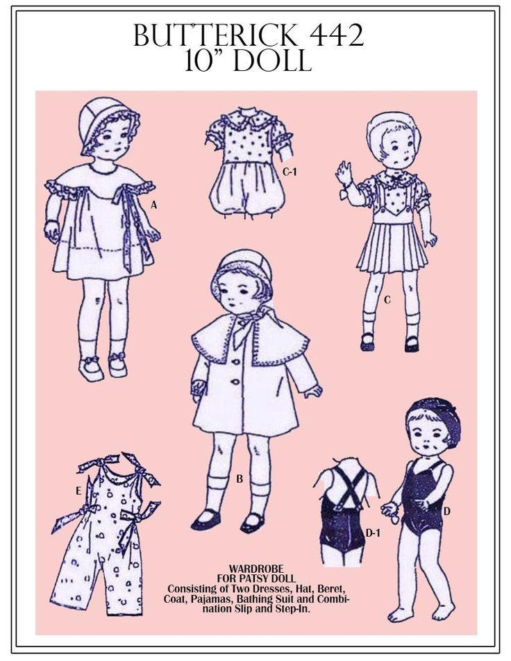 39 best PDF Vintage Doll Sewing Patterns images on Pinterest ...