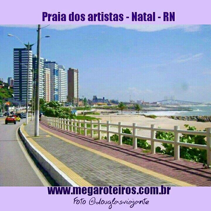 Praia dos artistas - Natal - RN, mais uma bela dica do nosso parceiro de viagens @douglasviajante! www.megaroteiros.com.br