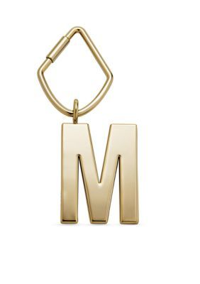 Fossil  Initial Letter Bag Charm M