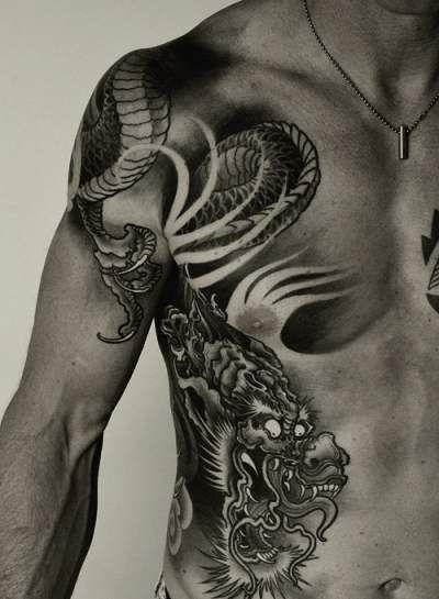 58 best dragon tattoos for men images on pinterest dragon tattoos tattoo ideas and dragon. Black Bedroom Furniture Sets. Home Design Ideas
