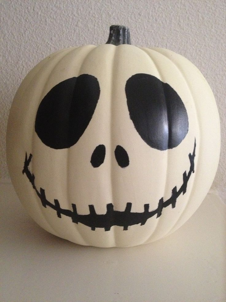 Jack Skellington glow-in-the-dark pumpkin.