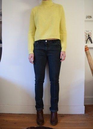 À vendre sur #vintedfrance ! http://www.vinted.fr/mode-femmes/jeans-skinny/54625908-jean-noir-slim-la-city-taille-38