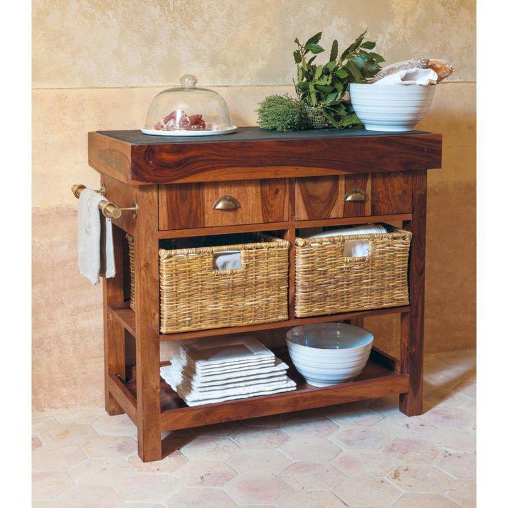 Massives Sheesham Holz Und Schiefer Hackklotz W95 Furniture Affordable Furniture Sheesham Wood