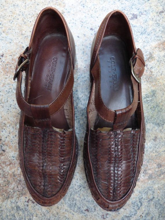 Cole Haan Country Brown Monk Strap Moc Toe Loafer F1455 Women's Size 9N