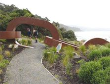 Entrance to Rakiura National Park,Stewart Island, Rakiura, New Zealand