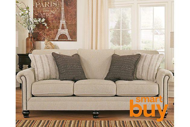 Nice looking sofa, great price.  Linen Milari Sofa   Ashley Furn.