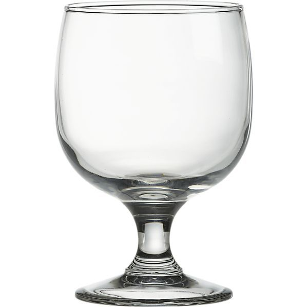 Everyday Stacking Wineglasses by Crate & Barrel hold a nice 11oz. and are easy to store.