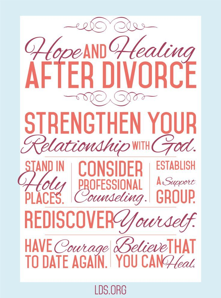 hurt divorced singles Effects of divorce on children  finally, the last phase is the psychic divorce, which involves adjustment to being single again in the case,.
