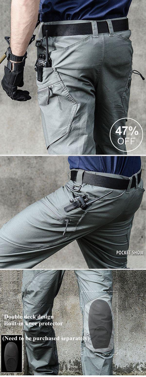 Muti-Pockets Pants /Water-repellent Tactical Training Pants #outdoor #men #menswear