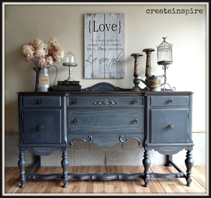 Antique Buffet In Ash From Fusion Mineral Paint